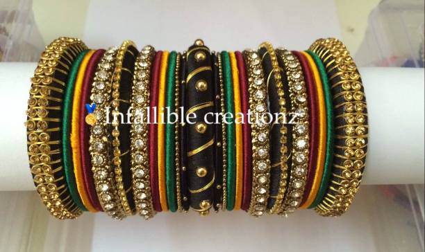 """With Silk thread Bangles, ear rings and necklaces ruling Bridal jewellery market, here at Brides essentials, we are introducing """"Infallible Creationz"""" as Pioneer in Silk thread jewellery."""