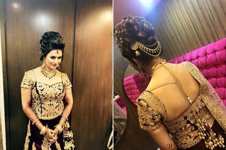 Divyanka's bridal hairdo
