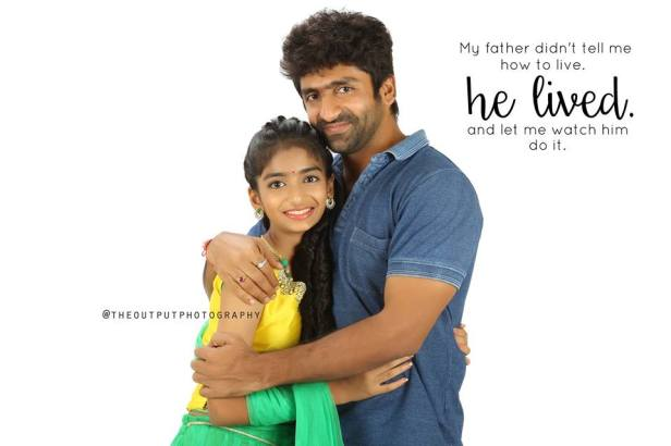 celeb shekar master with his daughter -pic by output media