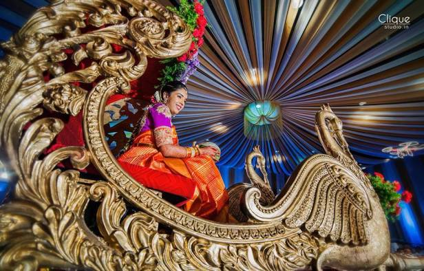 Bride in a mighty palanquin