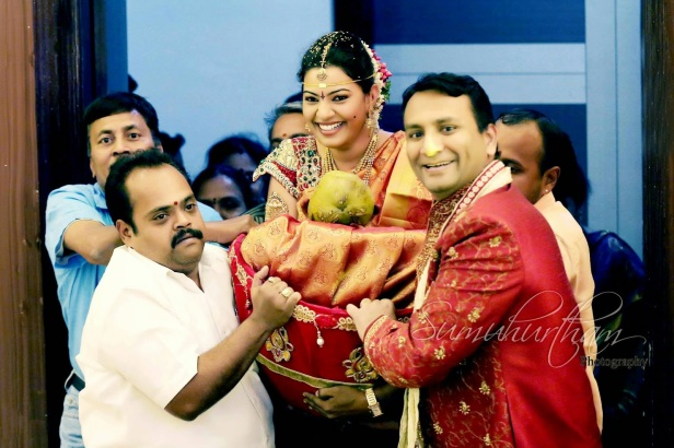 Geeta madhuri on her wedding day