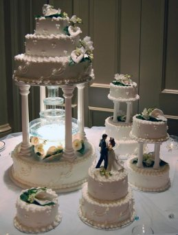 Ball roon inspired wedding cake