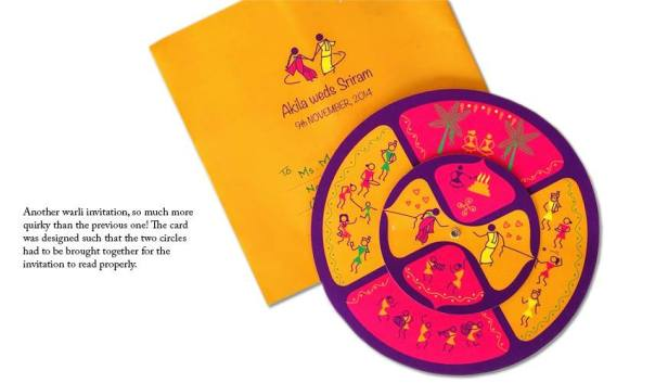 A colourful quirky card designed by Murali