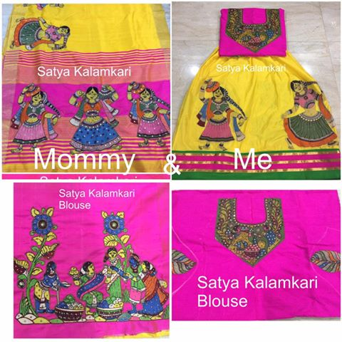 kalamkari ensemble of mom and me collectio