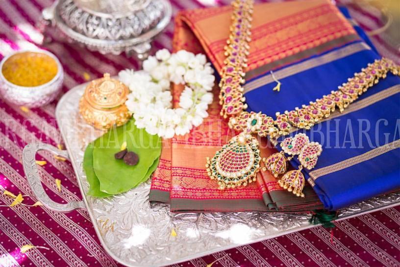 Kanjeevaram Saree and Jewellery for Telugu bride