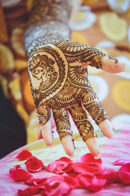 Rajasthani design on hand
