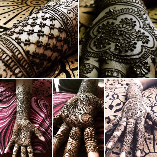 Mandala and indian fusion mehendi