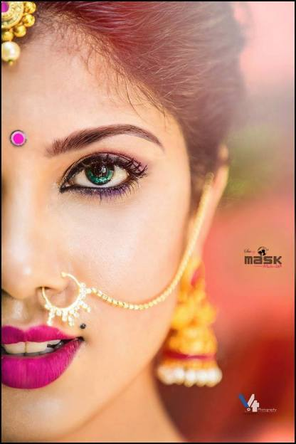 Beauty of the aqua eyes by Mask makeup