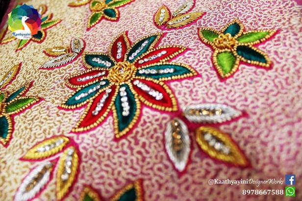 Bridal blouse detailing