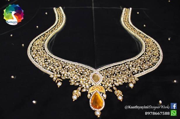 Aaari work by kaathyayani Designers