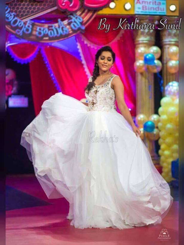 Rashmi gautham in an outfit designed by Kirthana