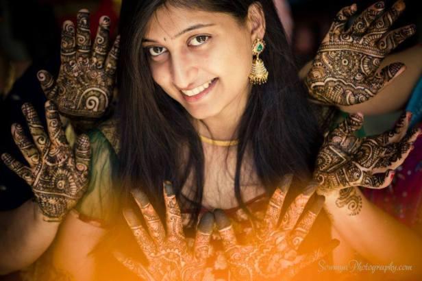 Mehendi shoot by Sowmya