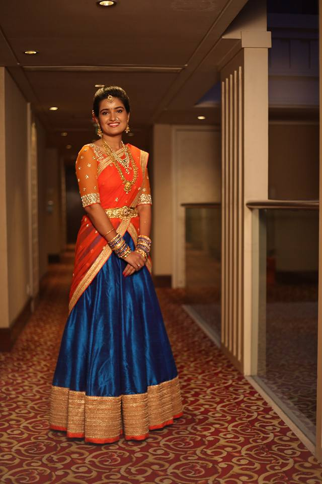 Half saree by Sravani Rao