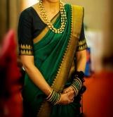 Border design blouses for Kanjeevaram sarees
