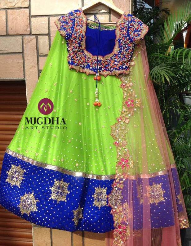 Photo feature on Mugdha Art Studio latest designer Lehenga Collection