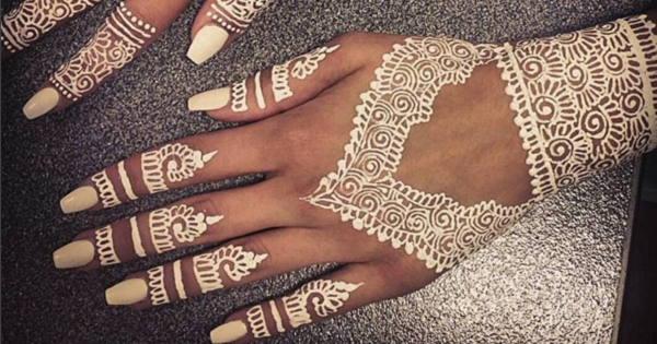 White Mehndi is the latest trend in Indian weddings
