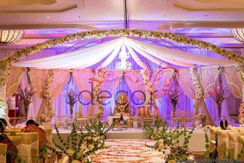 Lord Ganesha as center piece for mandap design