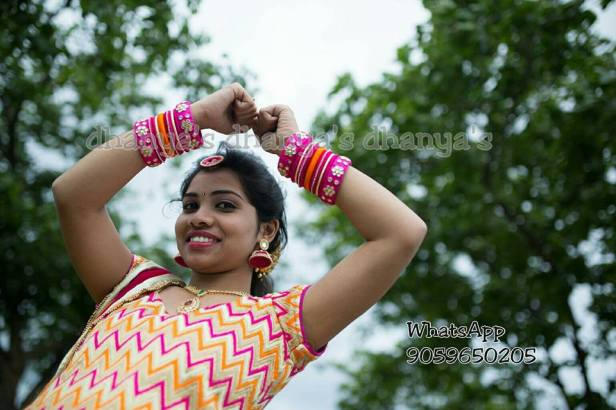 Client flaunting her bangles