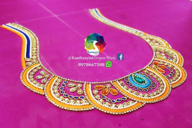 Thread work by Kaathyayani designer works