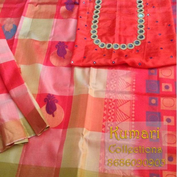 Soft silk mangalya pattu by Kumari collections