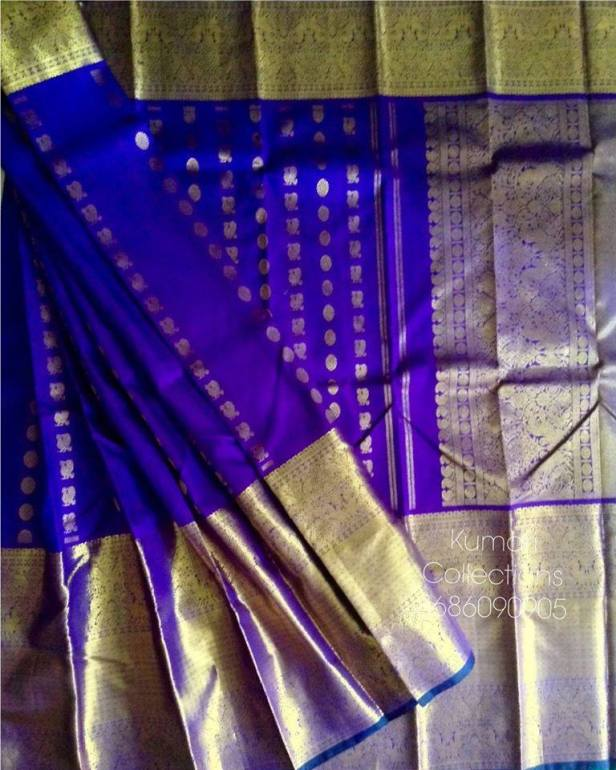 Kanchi Long border sarees by Kumari collections