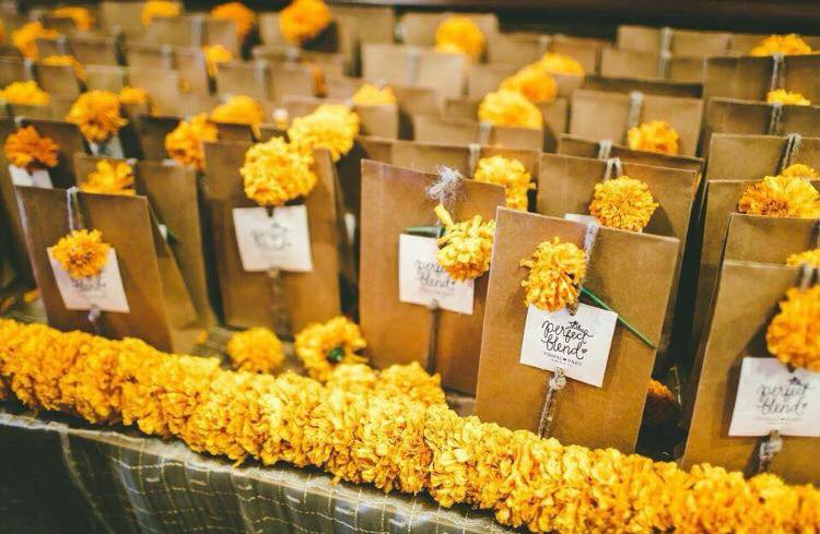 Mari gold themed paper bags