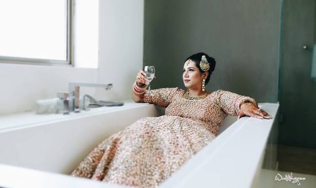 The bride in the bath tub