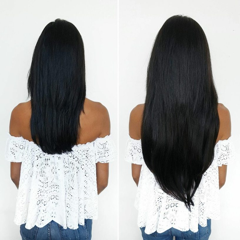 Hair extensions for medium length