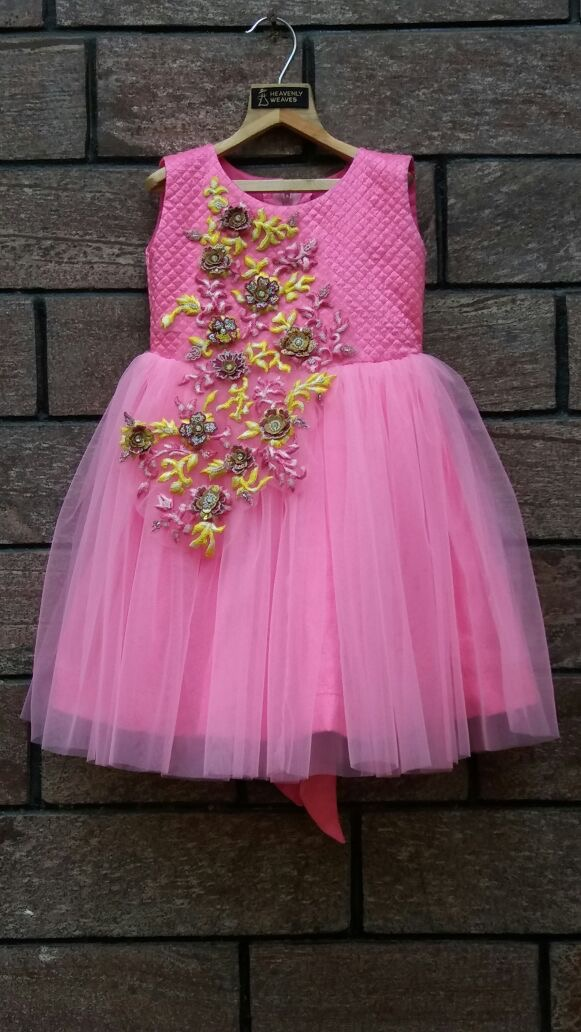 Beautiful Baby frock in shades of pink