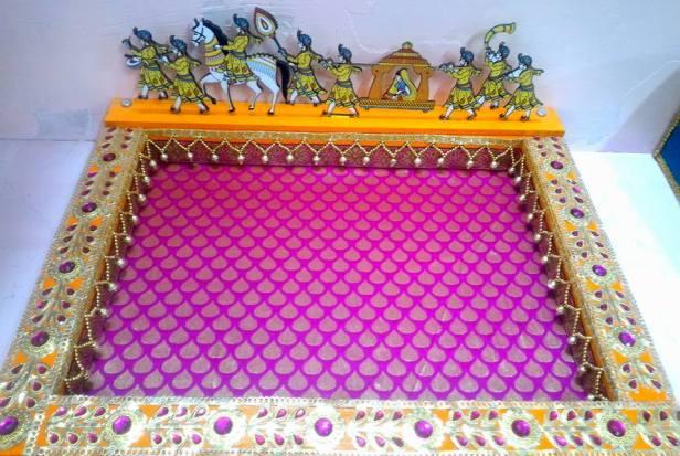 Pallaki themed wedding tray