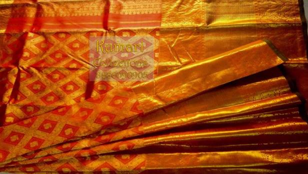 Diamond design Long border Saree