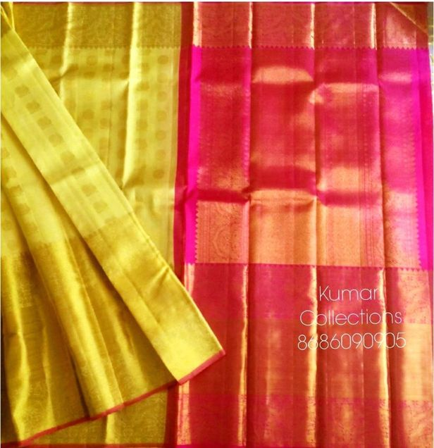 Golden color Kanchivaram long border