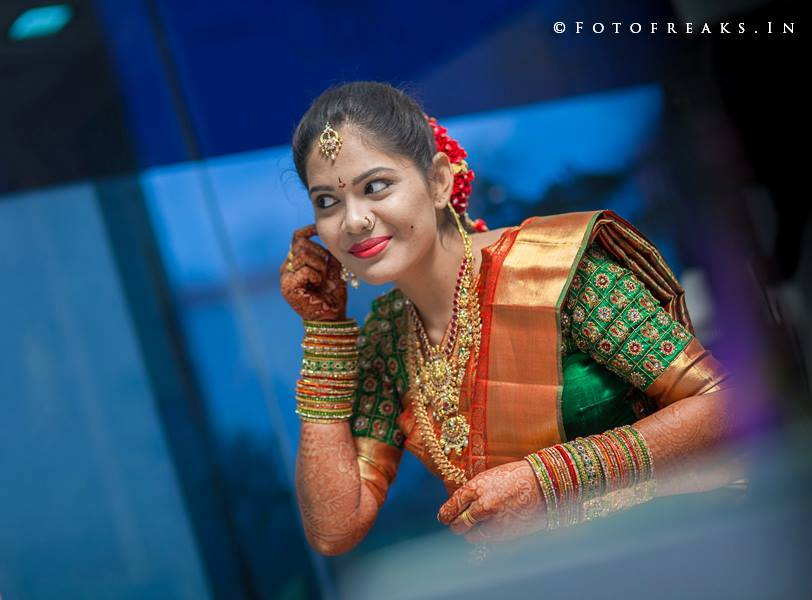 Sravya's look for her wedding