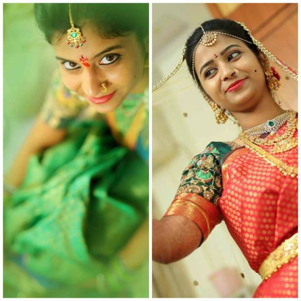 Pretty bridal makeup by Shashanka Makeup and Spa