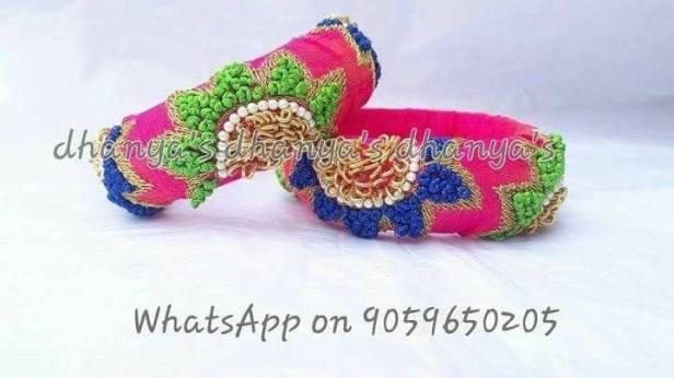 Multi colored fabric Bangles