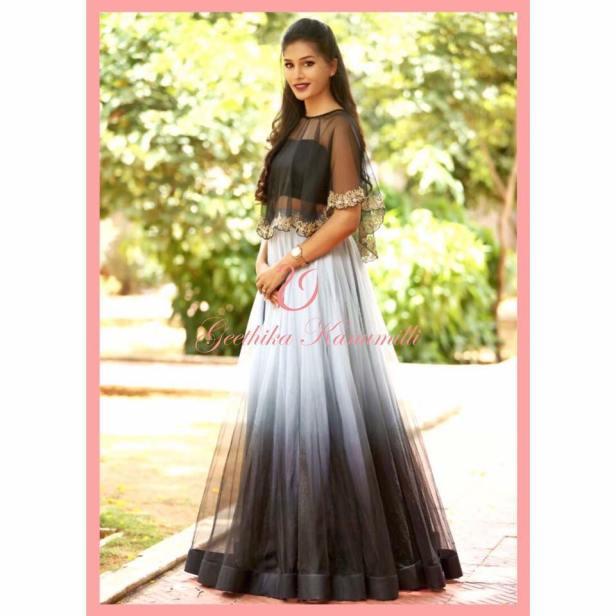 Dress-up fashionably with Geethika Kanumilli.