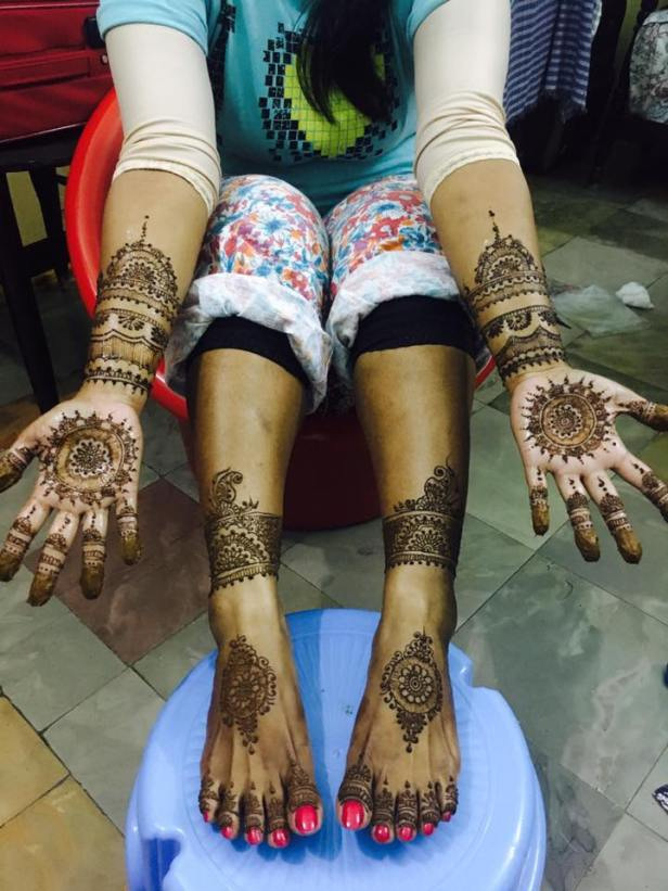 Mandala themed Bridal mehendi