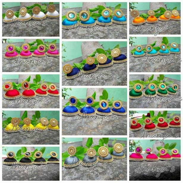 Beautiful and Colorful Jhumkas