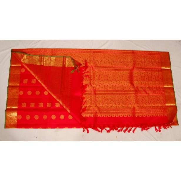 A Mirchi Red Kanchi Dupatta