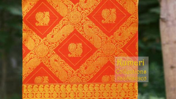 Annapakshi motif on Silk saree