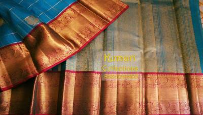 From the Ramp to your Wardrobe- Organza Kanjeevaram Saree.
