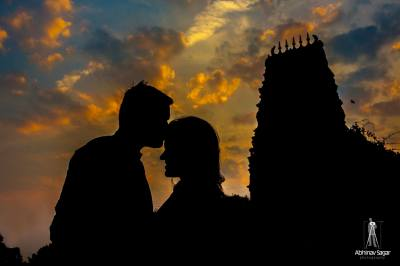 Silhouette from a post wedding shoot by Abhinav