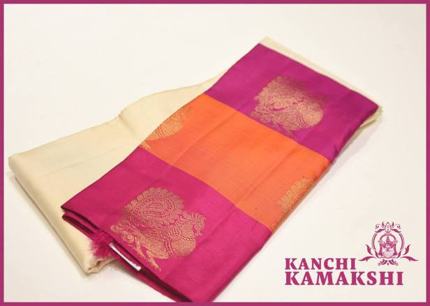 Beautiful Korvai saree with Anna Pakshi motifs