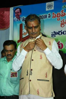 Harish Rao in a Gollabhama suit