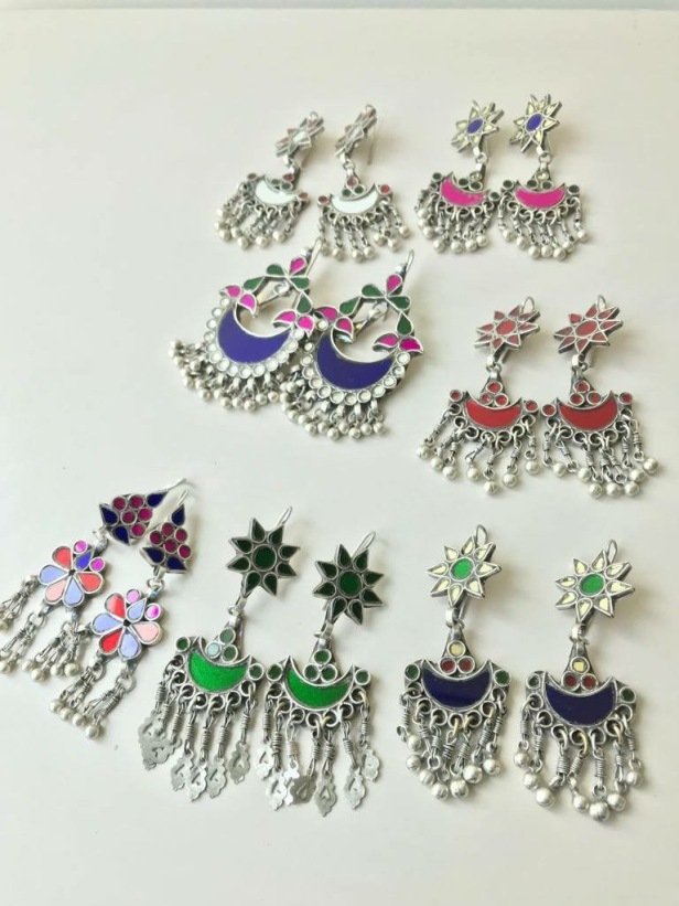 Glass earrings from the house of PraDe