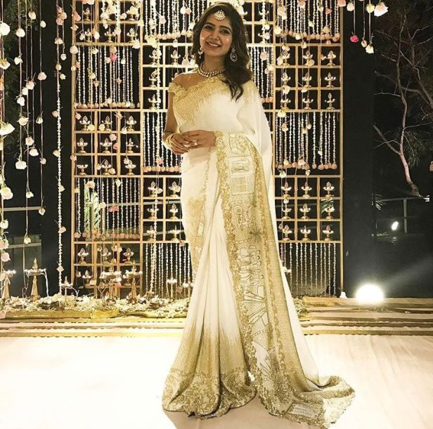 Samantha in her Engagement saree