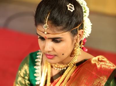 Wearing Surya and Chandra Prabha for my wedding