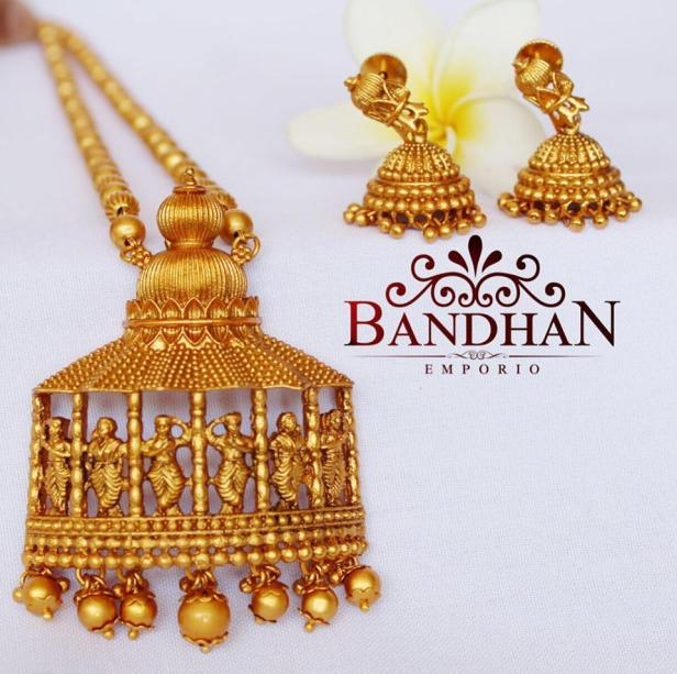 Exquisite Nakshi work ornaments from Bandhan