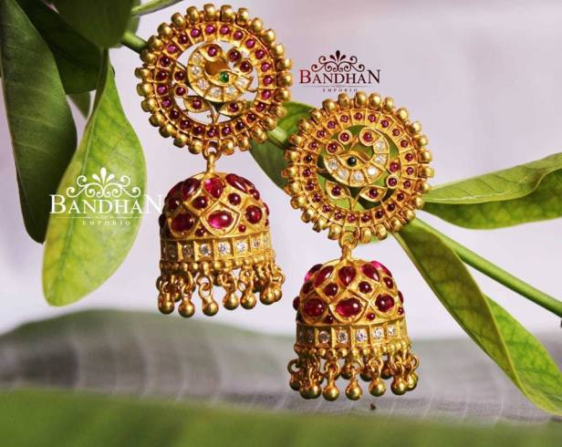 Antique Jhumkas from Bandhan